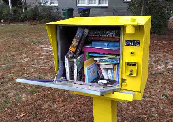 Free Tomes: A Newspaper Box to Little Free Library DIY 1