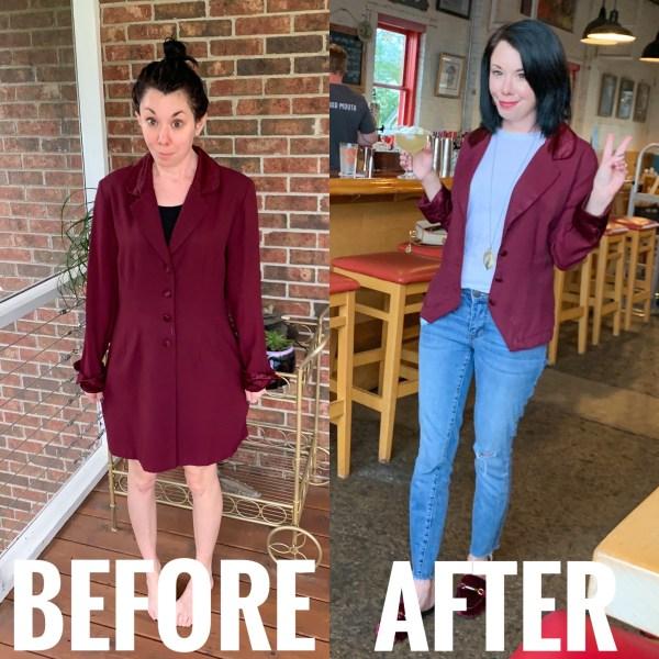 refashionista Dress to Blazer Refashion blazer main image
