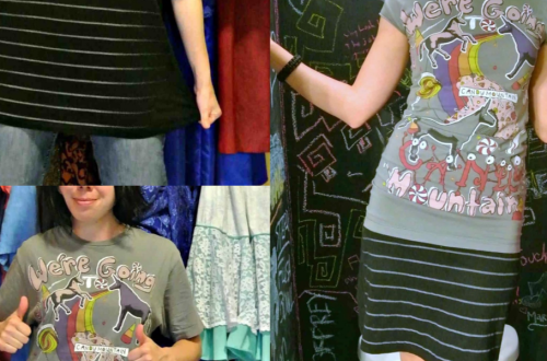 Two Tees, One Dress: A T-shirt to Dress Refashion 13