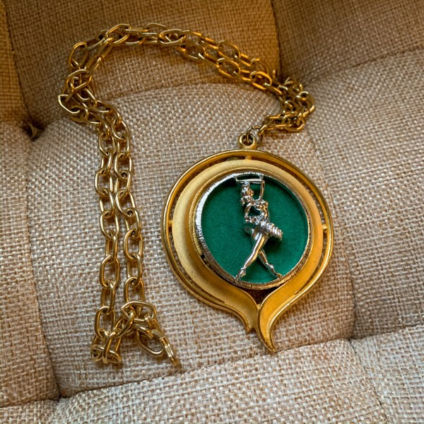 thrift store style refashionista ballerina necklace