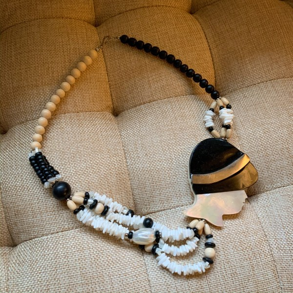 thrift store style refashionista flapper necklace