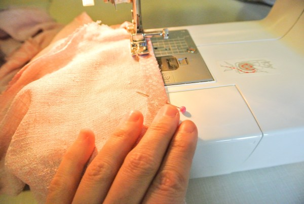sewing hem on dress to top refashion