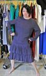 One shoulder dress refashion before