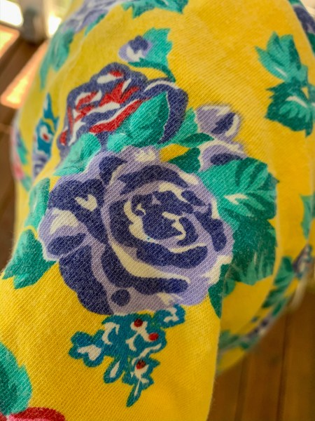 faded floral fabric from dress