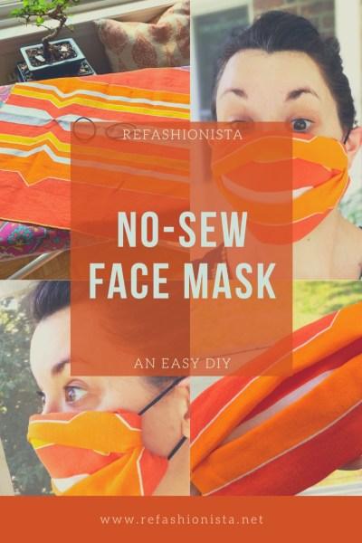 Easy DIY No Sew Face Mask