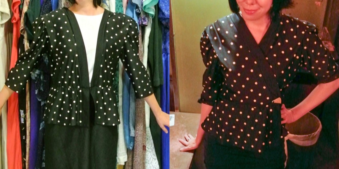 A New-Sew Dress to Peplum Top Refashion 5