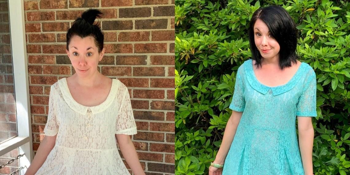 How to Dye & Refashion a Lace Dress 5