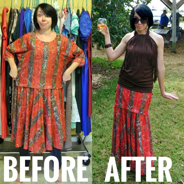 dress to maxi skirt