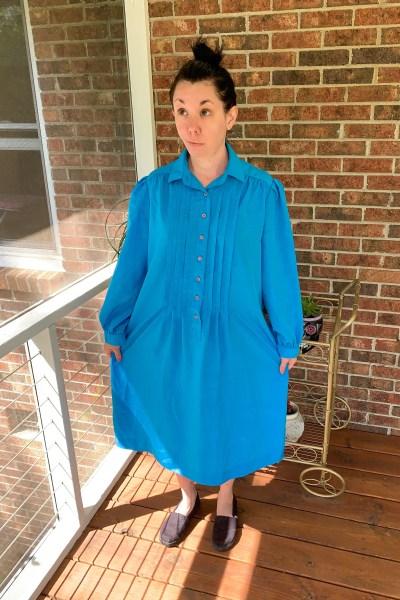 Refashionista DIY Tiered Dress Refashion before