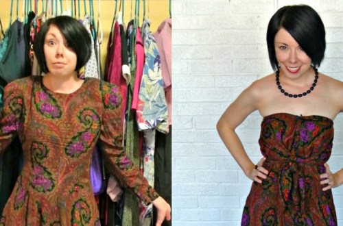A Too Darn Hot No-Sew Dress Refashion 8