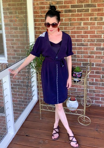 refashionista Refashioning a Collared Thrift Store Dress After