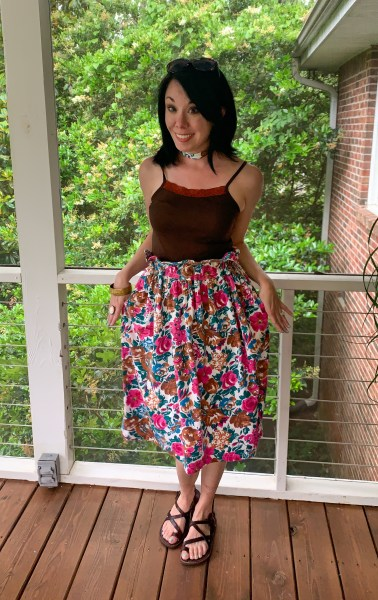 Dress to Elastic Waist Skirt DIY pockets