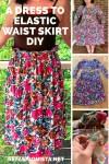 A Dress to Elastic Waist Skirt DIY 2