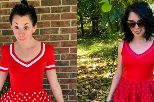 An Overdyed Polka Dot Dress Refashion 8