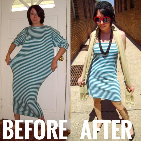 DIY Strapless Dress Refashion