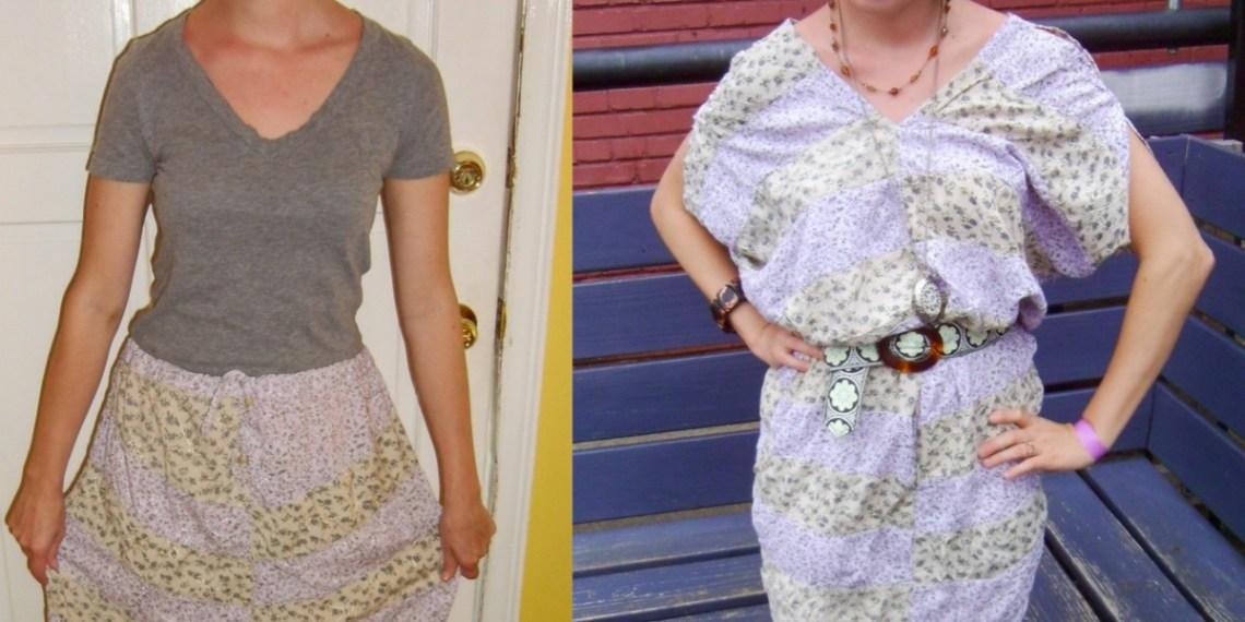 Day 67: Hippie Skirt to Dress Refashion 9