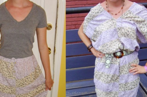 Day 67: Hippie Skirt to Dress Refashion 4