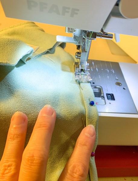 stitching arm hole