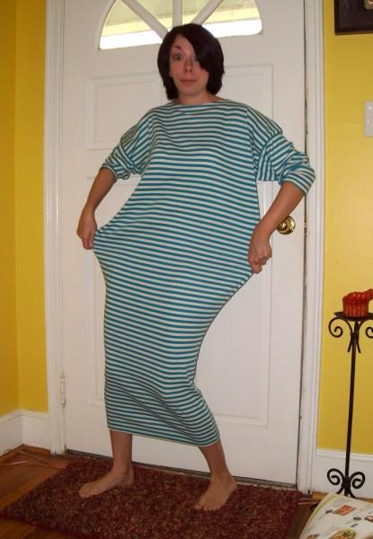 DIY Strapless Dress Refashion Before