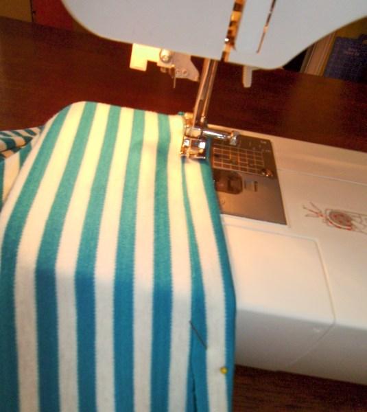 sewing bottom hem