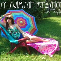 Ilona's Easy Swimsuit #Refashion