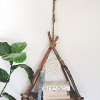 Madisyn's #upcycled hanging bookshelf