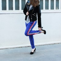 Anna's #refashioned striped trousers