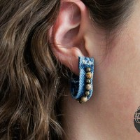 #Upcycled Denim Belt Loop Earrings