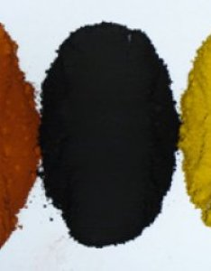 Iron oxide is available in many colors here are three also black rh digitalfire