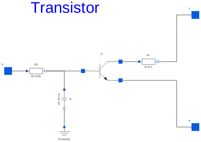 Modelica: Electrical.Analog.Examples.Utilities.Transistor