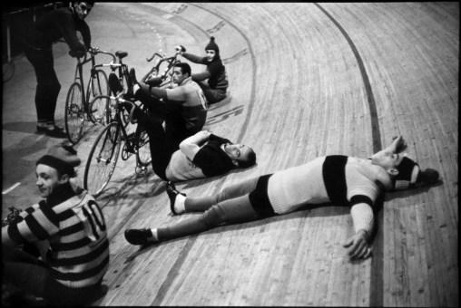 France. Paris. 1957. Vélodrome d'Hiver. Six-day races.