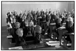 Soviet Union. Moscow. 1954. Elementary school.