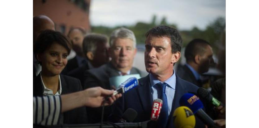 Le Premier ministre Manuel Valls lors d'une visite à Besançon le 29 septembre 2014 (c) Afp