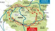 Les tracés des deux anciens projets concurrents (AFP)