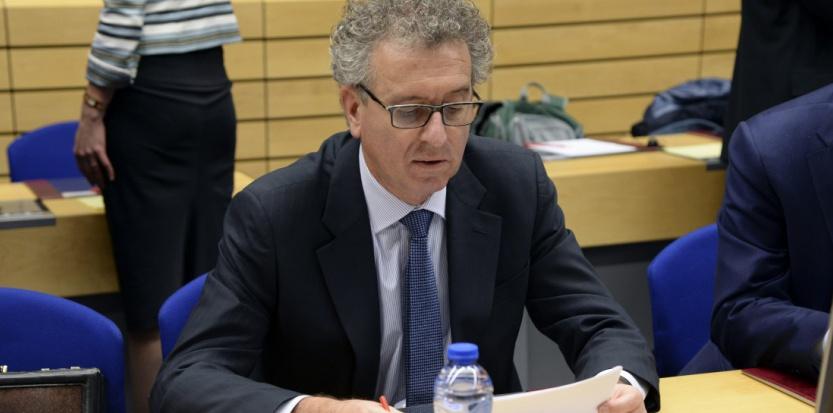 """Le ministre des finances du Luxembourg, Pierre Gramegna, considère que """"la pratique des tax rulings"""" fait partie du """"patrimoine"""" du pays. (THIERRY CHARLIER / AFP)"""