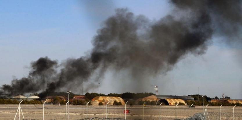 Dix morts, 13 blessés dans le crash d'un F-16 grec en Espagne. (Josema Moreno/AP/SIPA)