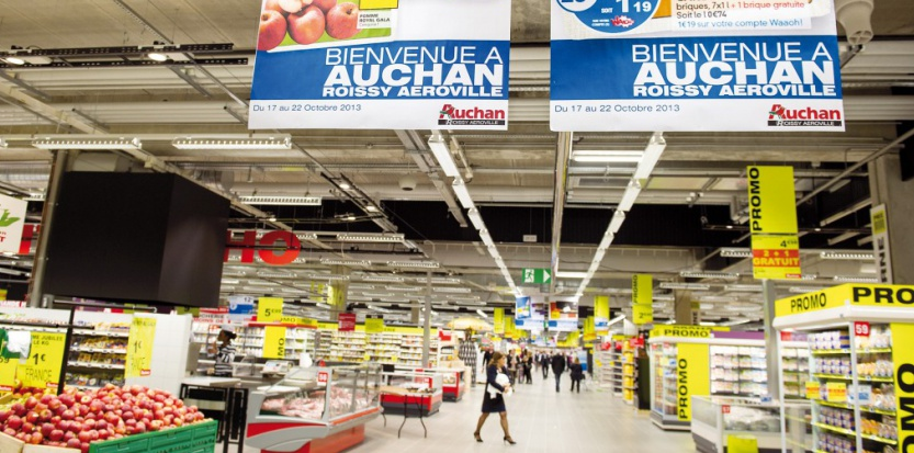 L'hypermarché Auchan d'Aéroville, à Roissy-en-France. Réa