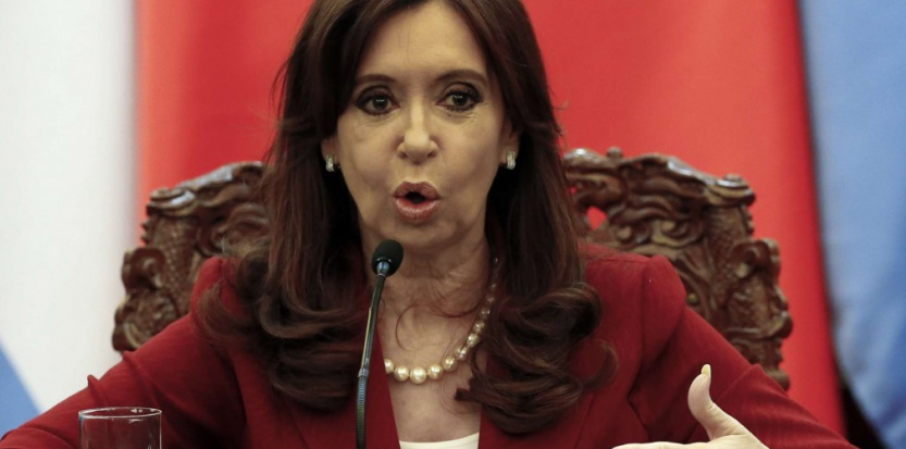 Cristina Kirchner au Palais de l'Assemblée du Peuple à Pékin, le 4 février 2015 (Rolex Dela Pena/AP/SIPA).