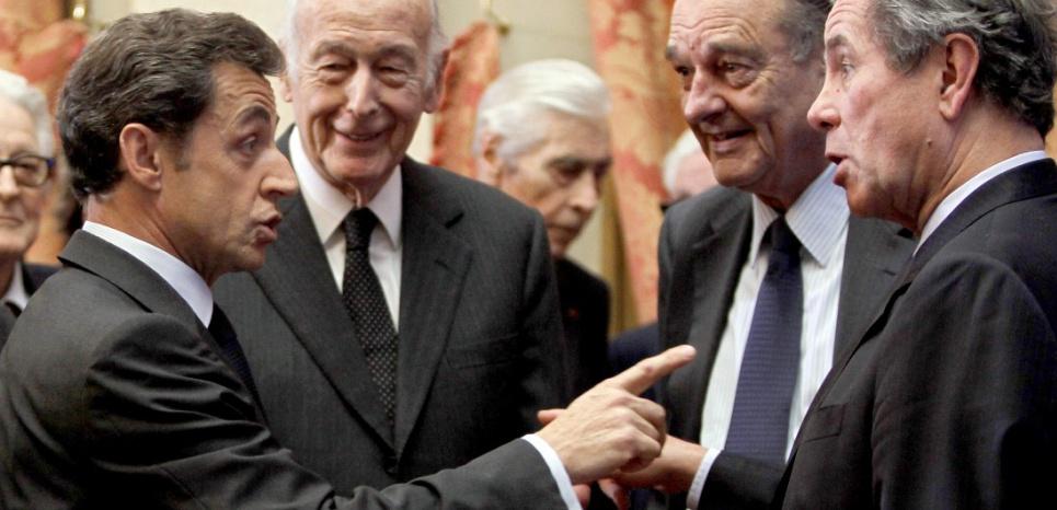 Sarkozy, Giscard, Chirac, Debré (Charles Platiau/AFP)