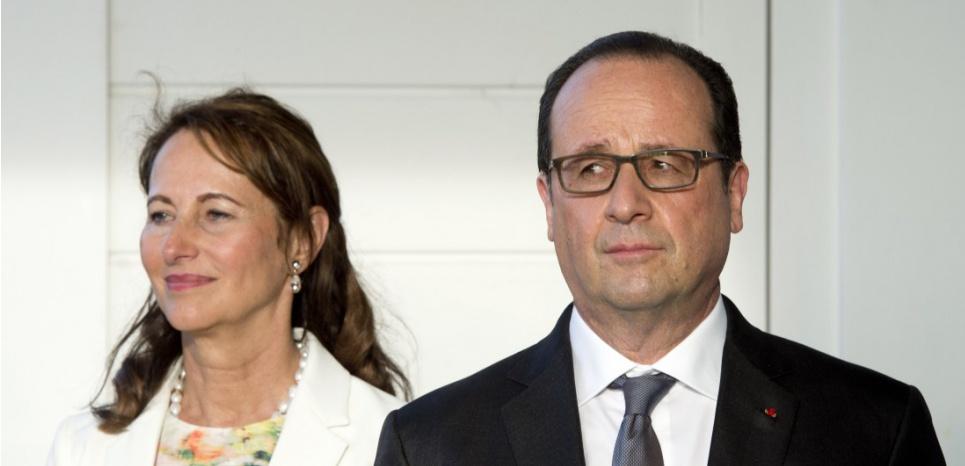 François Hollande et Ségolène Royal, le 9 mai 2015 à la Martinique. (ALAIN JOCARD / POOL / AFP)
