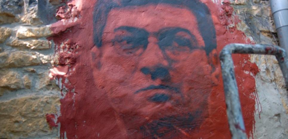Fresque représentant Julien Coupat à la Demeure du chaos. (Demeure du Chaos)