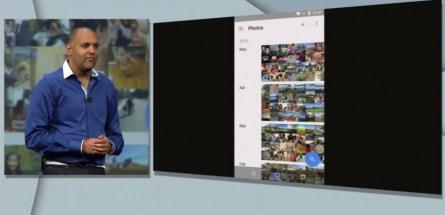Ani Sabharwal, responsable de l'application Photos chez Google, lors de sa présentation au Google I/O le 29 mai 2015. Google