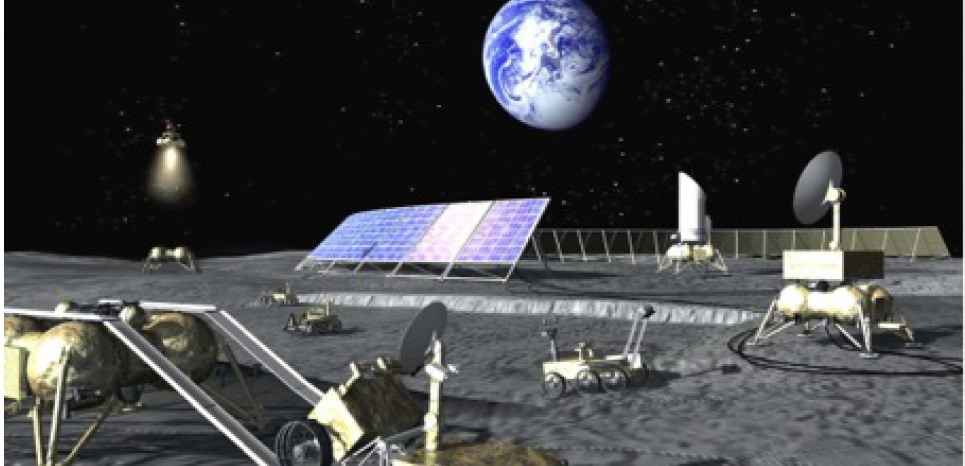 Projet de base lunaire russe (crédit : Lavochkine)