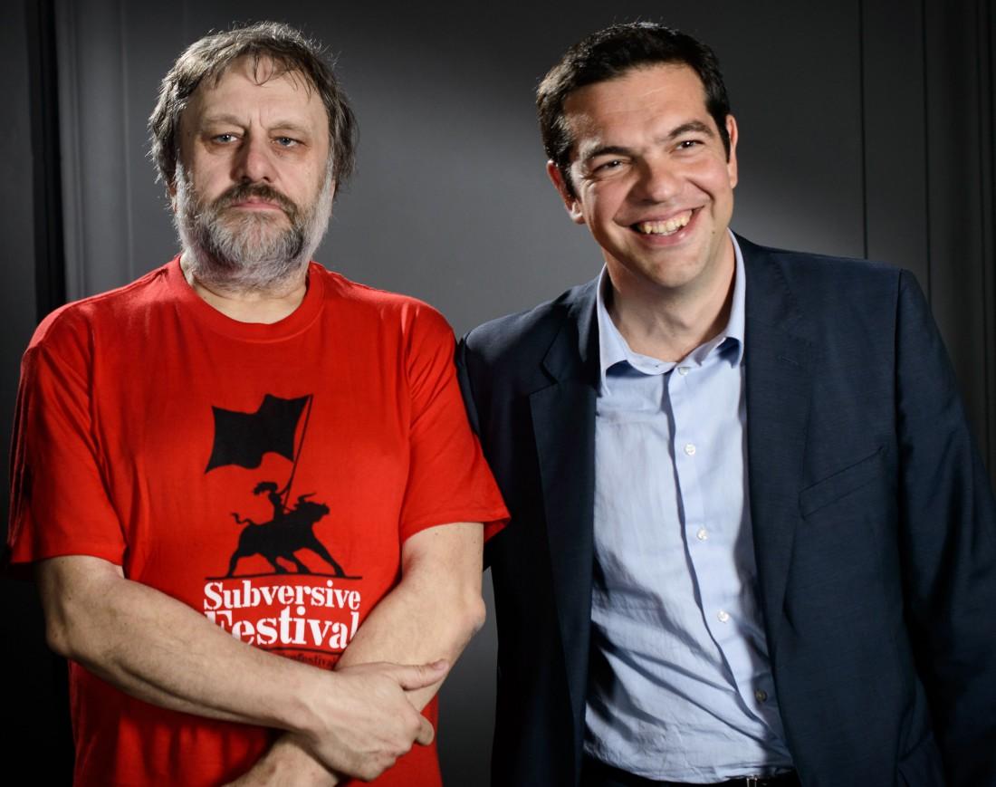 Zizek avec Tsipras en 2013 (SIPA)