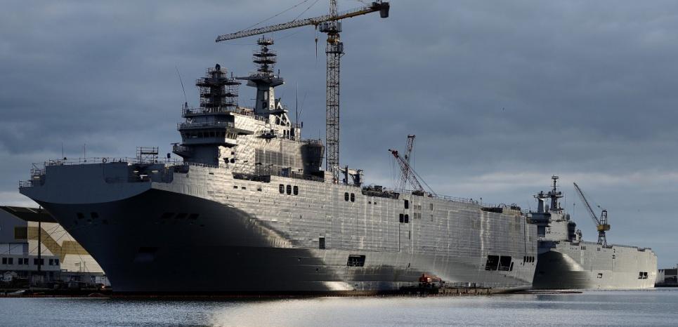La France récupérera la pleine propriété des Mistral qui devaient être livrés à la Russie JEAN-SEBASTIEN EVRARD/AFP