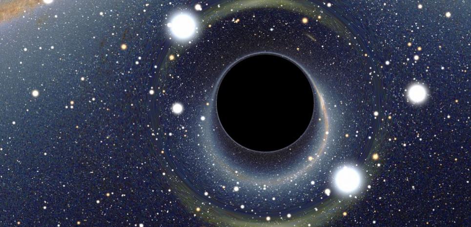 Simulation d'un trou noir par l'astrophysicien Alain Riazuelo. Alain Riazuelo / IAP
