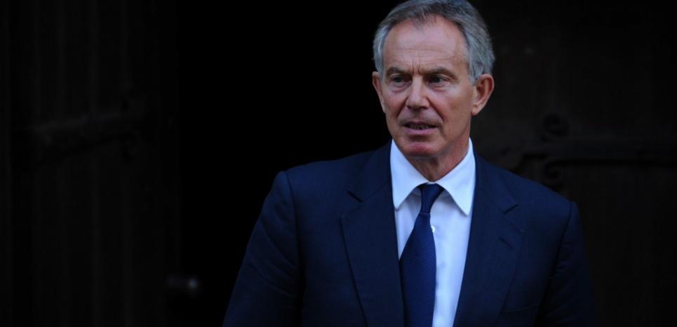 L'ancien Premier ministre travailliste Tony Blair, en mai 2012. (CARL COURT / AFP)