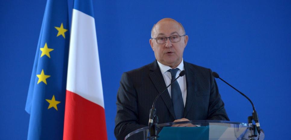 Michel Sapin a détaillé les initiatives de Bercy pour renforcer la lutte contre le financement du terrorisme. (c) ERIC PIERMONT / AFP