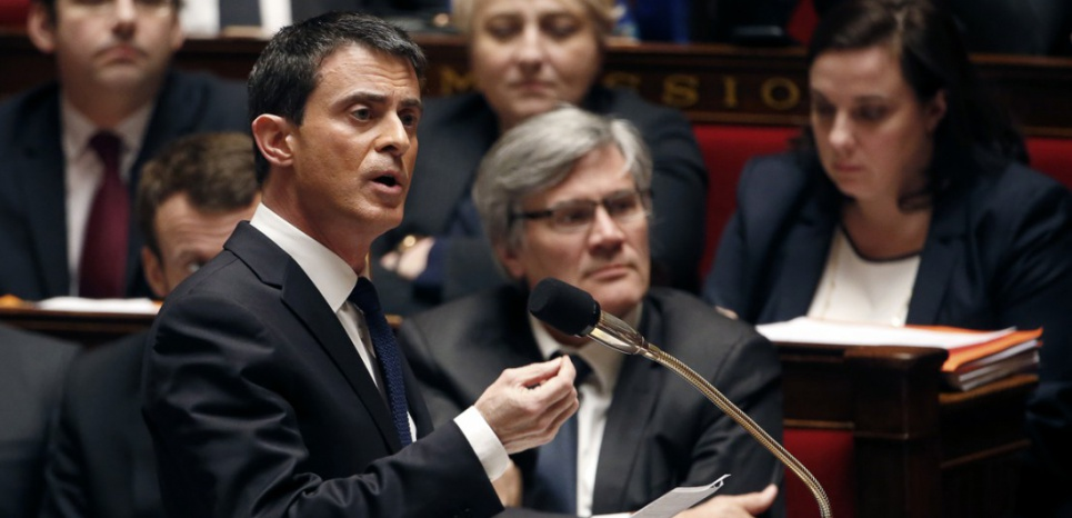 Manuel Valls à l'Assemblée nationale (THOMAS SAMSON / AFP)