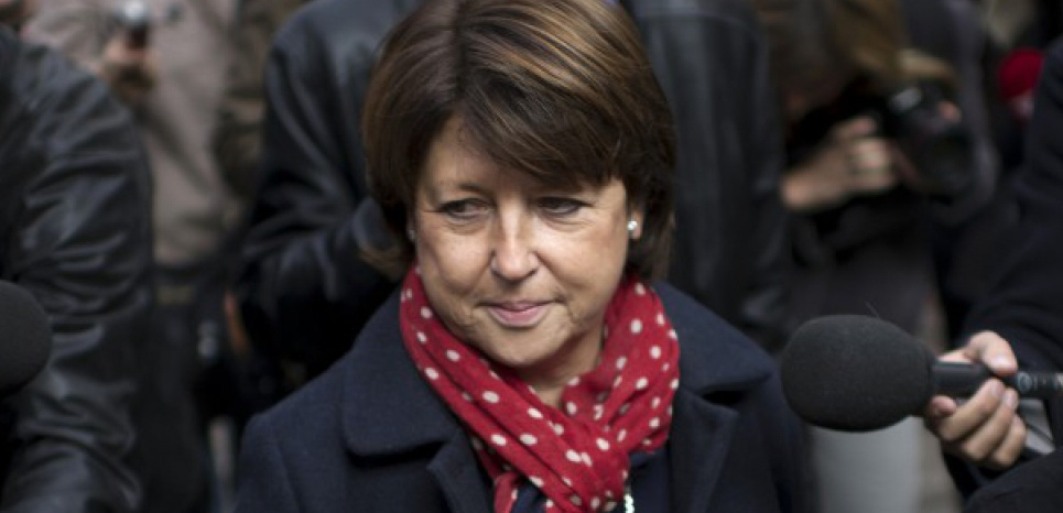 Martine Aubry joue les frondeuses. FRED DUFOUR/AFP